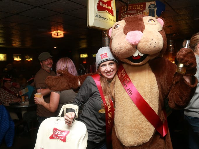Revelers braved a snowstorm to celebrate Groundhog's