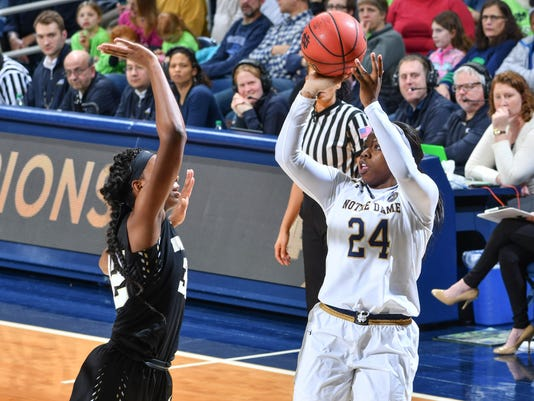 NCAA Womens Basketball: Wake Forest at Notre Dame