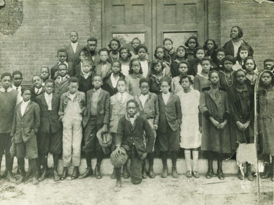 Life in East End and on Eagle Street in 1959 rested on an educational tradition, as with this Hill Street School seventh grade class in 1923. Photo from Black Highlanders Collection, Ramsey Library, UNC Asheville.