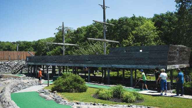 The pirate ship, C.P. Jarkatney at Yogey's Miniature Golf and Ice Cream Parlor on Thursday, June 9, 2016.