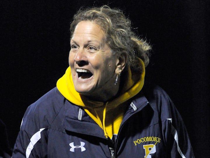 Pocomoke head field hockey coach Susan Pusey
