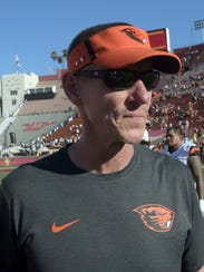 Oregon State Beavers head coach Gary Andersen.