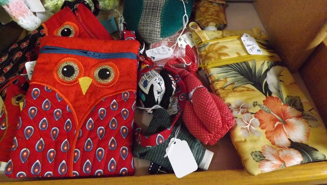Handmade purses are among the items for sale at Senior Opportunities Services' craft shop, which is open from 9 a.m. to 2 p.m. Tuesdays through Fridays at 401 S. Fourth St., Richmond.