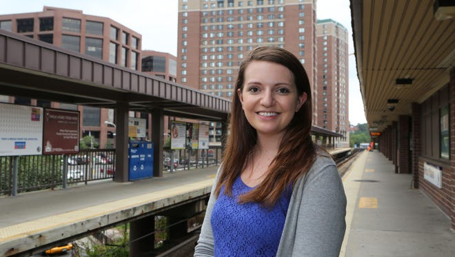 Melina Delkic, a Georgetown University student, was a Dow Jones intern at The Journal News/lohud in White Plains.  Here she is at the train station in White Plains on Aug. 16.