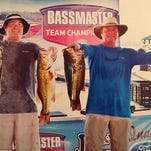 Ray White and Clayton Frye won the H&W Marine Tournament Trail championship recently with 59.98 pounds of bass in the two-day event on Toledo Bend.