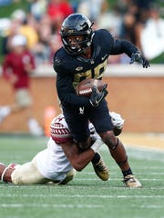 Wake Forest Demon Deacons wide receiver Greg Dortch.