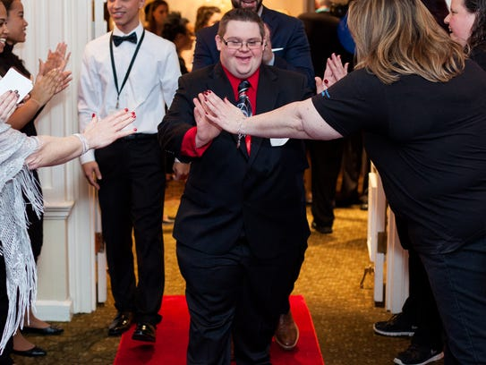 Guest make a red-carpet entrance during a previous