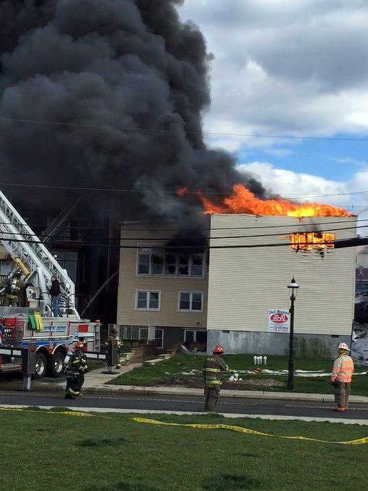 41 Firefighters 1 Civilian Hurt In Keyport Fire