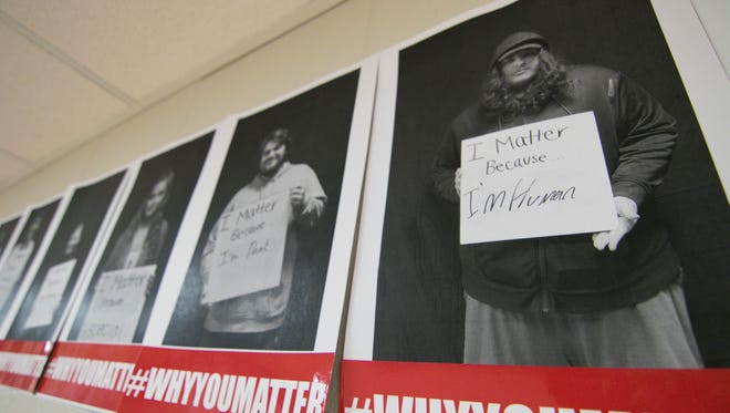 Every student at Howell High School, from freshmen to seniors, was photographed holding a statement of why they matter, and the photos were hung throughout the school and premiered Thursday, March 15, 2018.