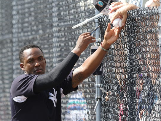 Yankees workout this afternoon. Miguel Andujar signs