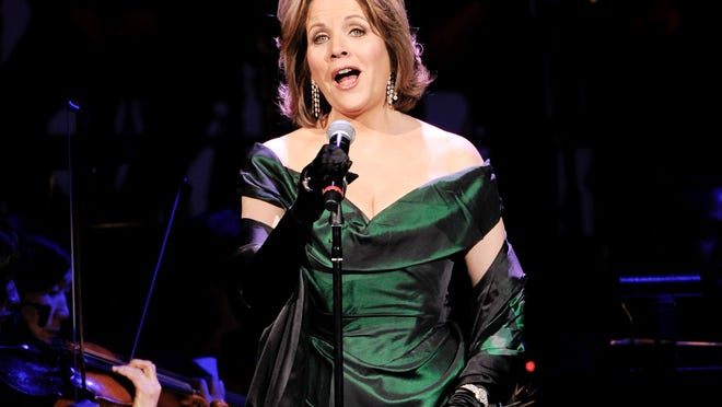 Soprano Renee Fleming performs at the 25th Anniversary Rainforest Fund benefit concert at Carnegie Hall in New York in April.
