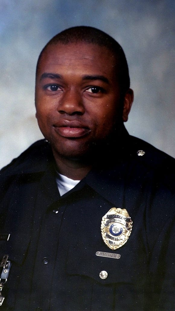 Anderson Gordon III, fallen Montgomery police officer. Copied photo.