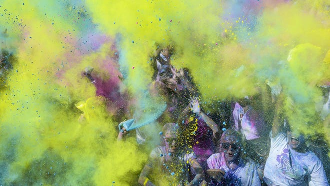This year's Color Vibe race is Saturday at the Ranch Events Complex in Loveland.