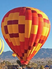 Colorful hot-air balloons will float over Lake Havasu at the Havasu Balloon Festival and Fair.