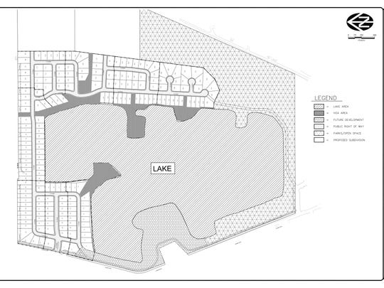 "Map of the proposed ""Turner Lake"" development."