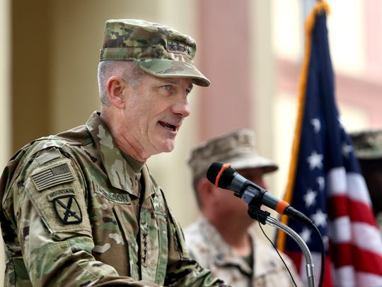 Army Gen. John Nicholson, the U.S. commander in Afghanistan,