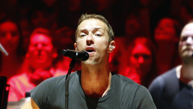 Chris Martin of Coldplay performs at Royal Albert Hall on July 2 in London.