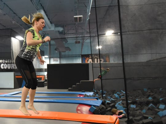 Lea Ann Thompson and her family chose to visit Get Air Trampoline Park on Sunday, Feb. 1, instead of watching the Super Bowl.