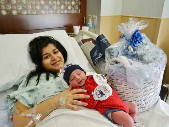 Arik Kumar was born Jan. 1 to Noor Kumar. Arik was the first baby born in 2015 at St. Elizabeth East.