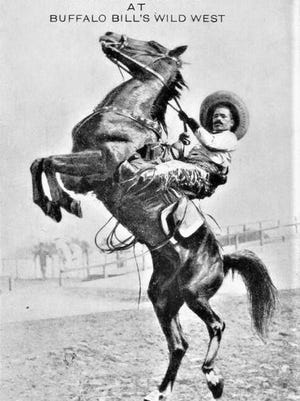A promotional photo of the Buffalo Bill show.