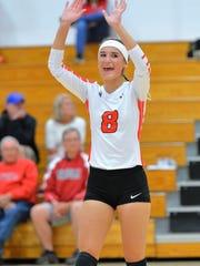 Paige Hintz and the Pacelli volleyball team have had a lot to celebrate up to this point in the high school season.
