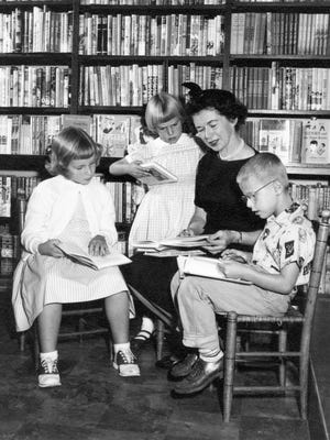 Beverly Cleary is seen with kids at Berkeley in 1957. Cleary's 100th birthday will be celebrated with a party featuring crafts, cake and games at 2 p.m. April 2 at the Salem Public Library.