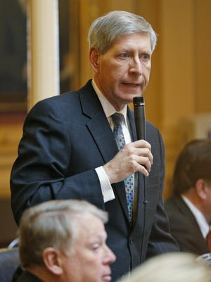 Del. Steve Landes, R-Weyers Cave, speaks on the floor of the House of Delegates on Jan. 26. Del. Steve Landes, R-Augusta, speaks on the floor of the Virginia House of Delegates during the session at the Capitol in Richmond, Va., Tuesday, Jan. 26, 2016. Landes outlined the GOP proposed changes to the state's education system.