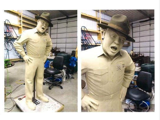 Frank Sutton's statue that will be installed in front