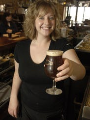 Erika Devine, a bartender at Rock Bottom Restaurant