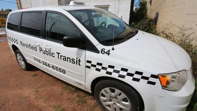 A Marshfield Public Transit van that has been used as a shuttle to Tomah is pictured in this Sept. 8 file photo. A private contractor, Running, Inc., leases the van from the city of Marshfield.