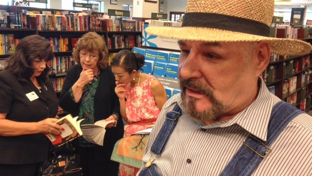 Actor Michael Fiore kicked off a read-a-thon at Barnes & Noble in West Melbourne today.