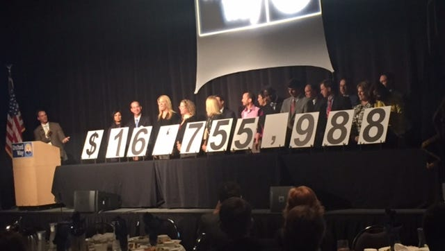 United Way of Greenville County raised $16,755,988 during its 2015 community campaign.