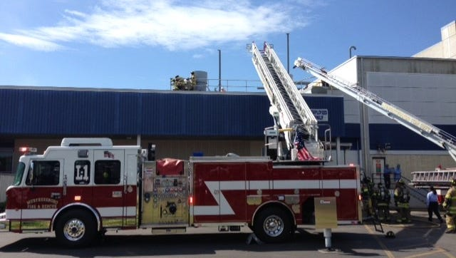 Maintenance work may have led to the roof fire at General Mills Wednesday morning.
