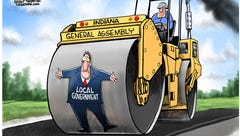 Cartoonist Gary Varvel: Big government steamroller