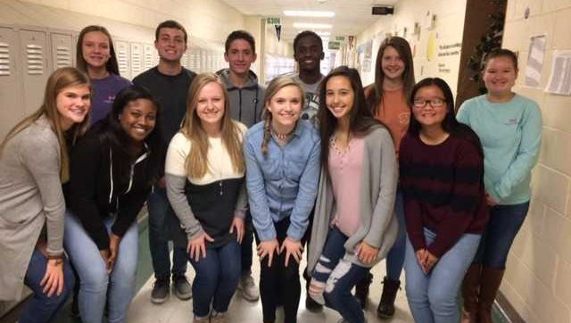 Henderson County's November students of the month are, front row from left: Preston Hazelwood, Kori Farris, Sheridan Forker, Kaylee  Norman, Marissa Sauer and Amy Chen. Back row: Emilee Hope, Connor Coomes, Patrick Cloutier, Kevontay Whitlock, Kayla Wayne and Morgan Lacer.