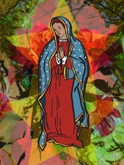 Virgen de Guadalupe art work will be featured during the Fiesta Navidena and holiday pop-up at the Tejano Civil Rights museum Dec. 17, 2017.