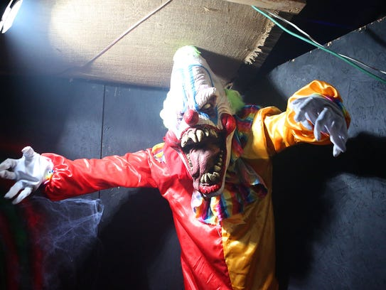 Scary clowns at the Haunted Hacienda in La Quinta.