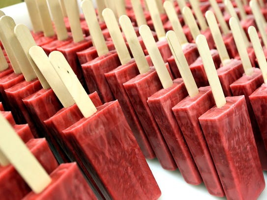July 7, 2016 - Cherry/Lime popsicles are ready for
