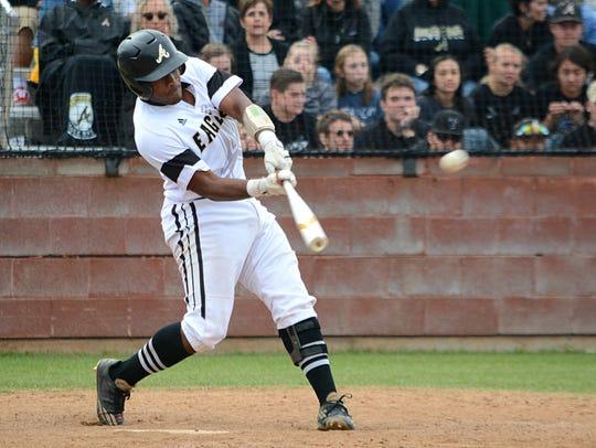 Abilene High catcher Terrell Franklin rips a seventh-inning