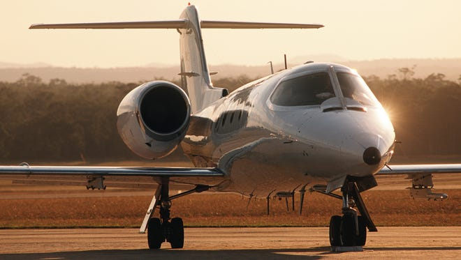 While business jets do offer a very smooth ride, the smoothest ride will normally be the larger A380 or Boeing 747.