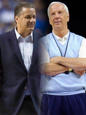 John Calipari and Roy Williams have Kentucky and UNC as preseason No. 1s.