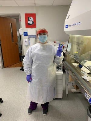 Kaitlyn White is a medical laboratory technician at CarolinaEast.