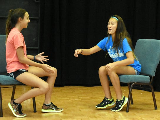 McKenna Broxson, left, and Elisa Smith playstheater