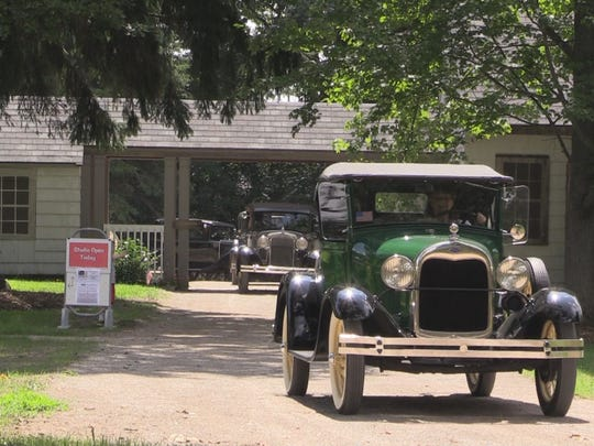 Model A cars make their way into Highland Recreation