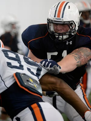 Auburn offensive tackle Patrick Miller has declared for the NFL Draft.