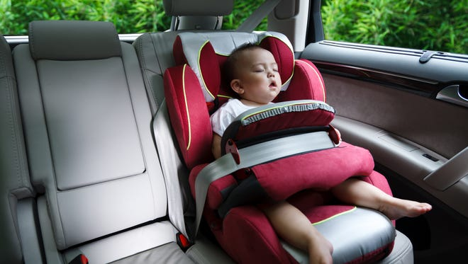 Children left alone in hot cars can develop heatstroke.