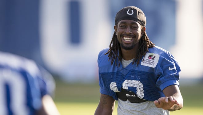 T. Y. Hilton, wide receiver, at Colts Camp at Anderson University, Anderson, Thursday, Aug. 11, 2016.