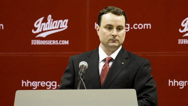 Archie Miller, new head coach of Indiana University's men's basketball team, is introduced in Assembly Hall, Bloomington, Monday.