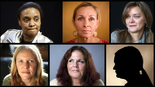 (Clockwise from top left:) Brittany Davis, Meg Perez, Aleisa Yusko, Elizabeth, Kelly Morgan and Brianne Cain share their experiences with abortion.