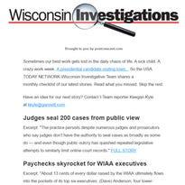 Wisconsin Investigations newsletter sample